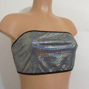 ⭐For Bundles Only⭐Fashion Nova Bikini Top Metallic
